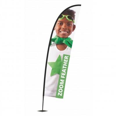 Reklamní vlajka - Zoom+ Feather
