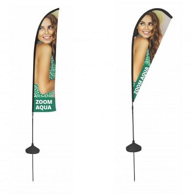 Reklamní vlajka - Zoom Aqua
