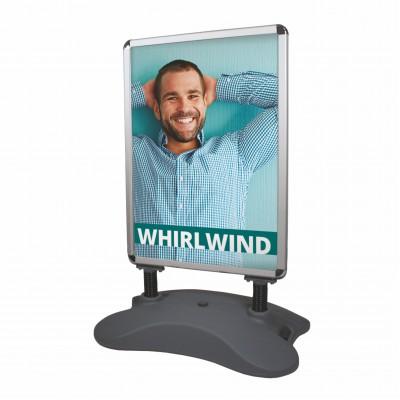 Venkovní reklamní stojan - Whirlwind (Základna + rám)