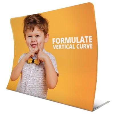 Vertikálně zahnutá textilní stěna - Formulate